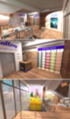 მაღაზიის დიზაინის 3d ვიზუალიზაცია