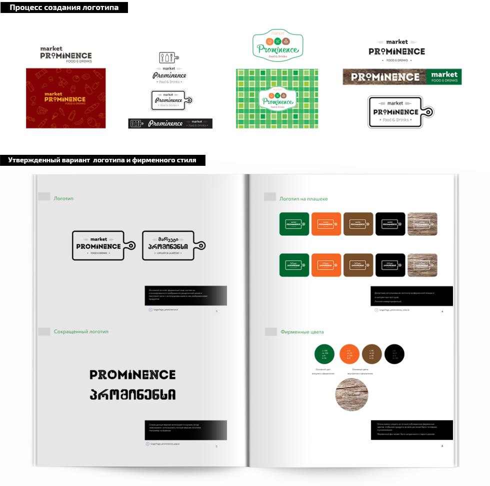 создание логотипа Prominence