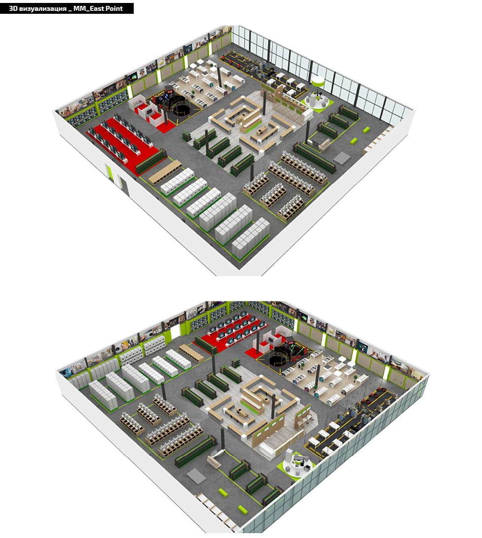 дизайн и проектирование магазинов