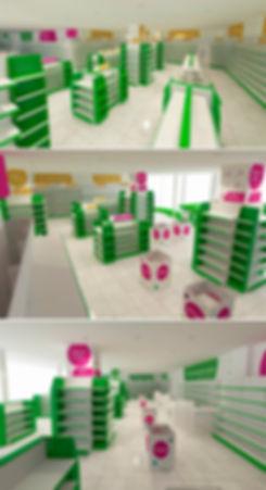 оформление интерьера аптеки