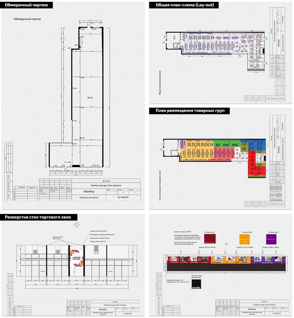 планировка магазина техники