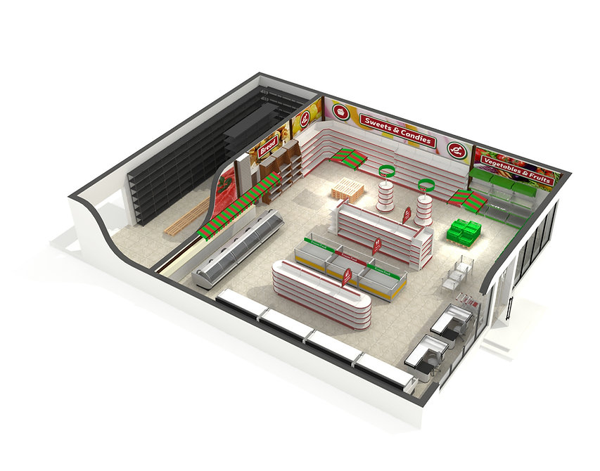 store design of the interior