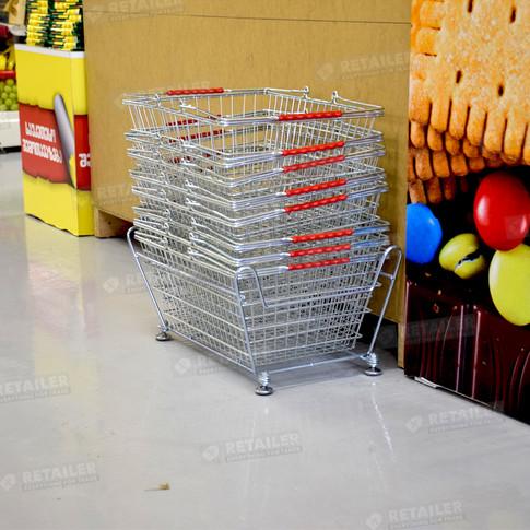 Накопитель для покупательских корзинок, Agrovita