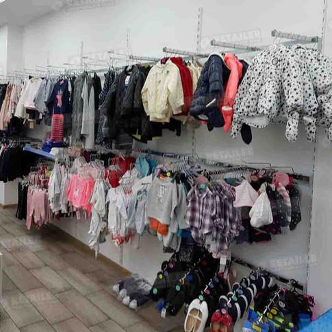 კედლის პროფილები ტანსაცმლის მაღაზიისთვის, Primark