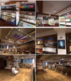 ბიბლუსის მაღაზიის შიდა გაფორმება