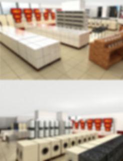 ტექნიკის მაღაზიის ინტერიერის დიზაინი