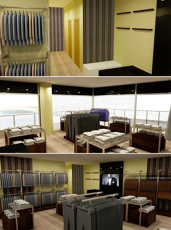 ტანსაცმლის მაღაზიის ინტერიერის დიზაინი და პროექტირება