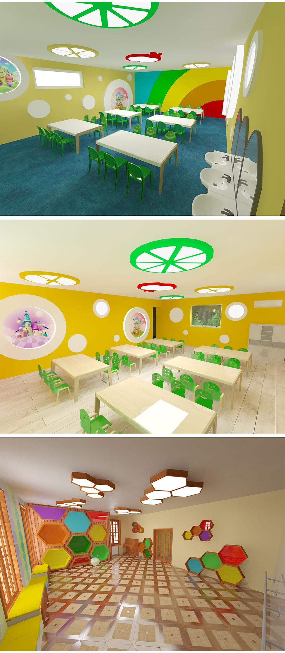 საბავშვო ბაღის ინტერიერის დიზაინი