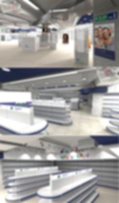 торговое оборудование для аптеки 3D