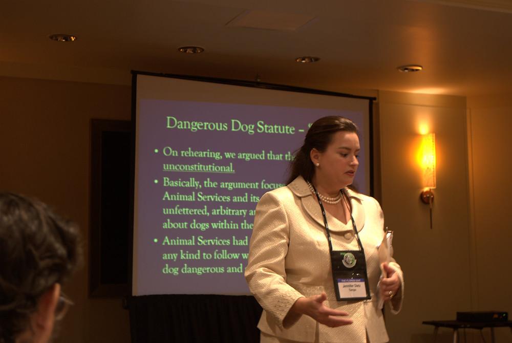 Jennifer Dietz presenting at an ALS CLE