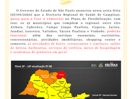 Plano São Paulo - 07/08/2020
