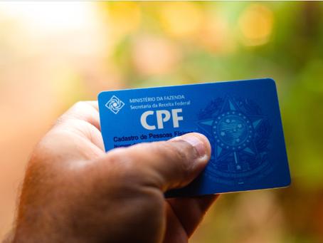 CPF - Contribuintes de qualquer idade poderão realizar inscrição no CPF gratuitamente por e-mail