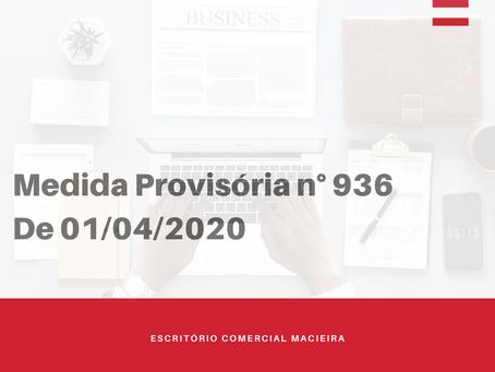 Medida Provisória n° 936 De 01/04/2020