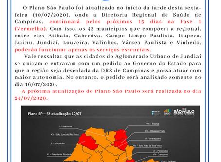 Comunicado Plano São Paulo 10/07/2020