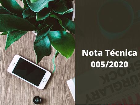 Comunicado Jundiaí - Nota Técnica 005/2020