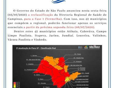 Fase Vermelha - Diretoria Regional de Saúde de Campinas