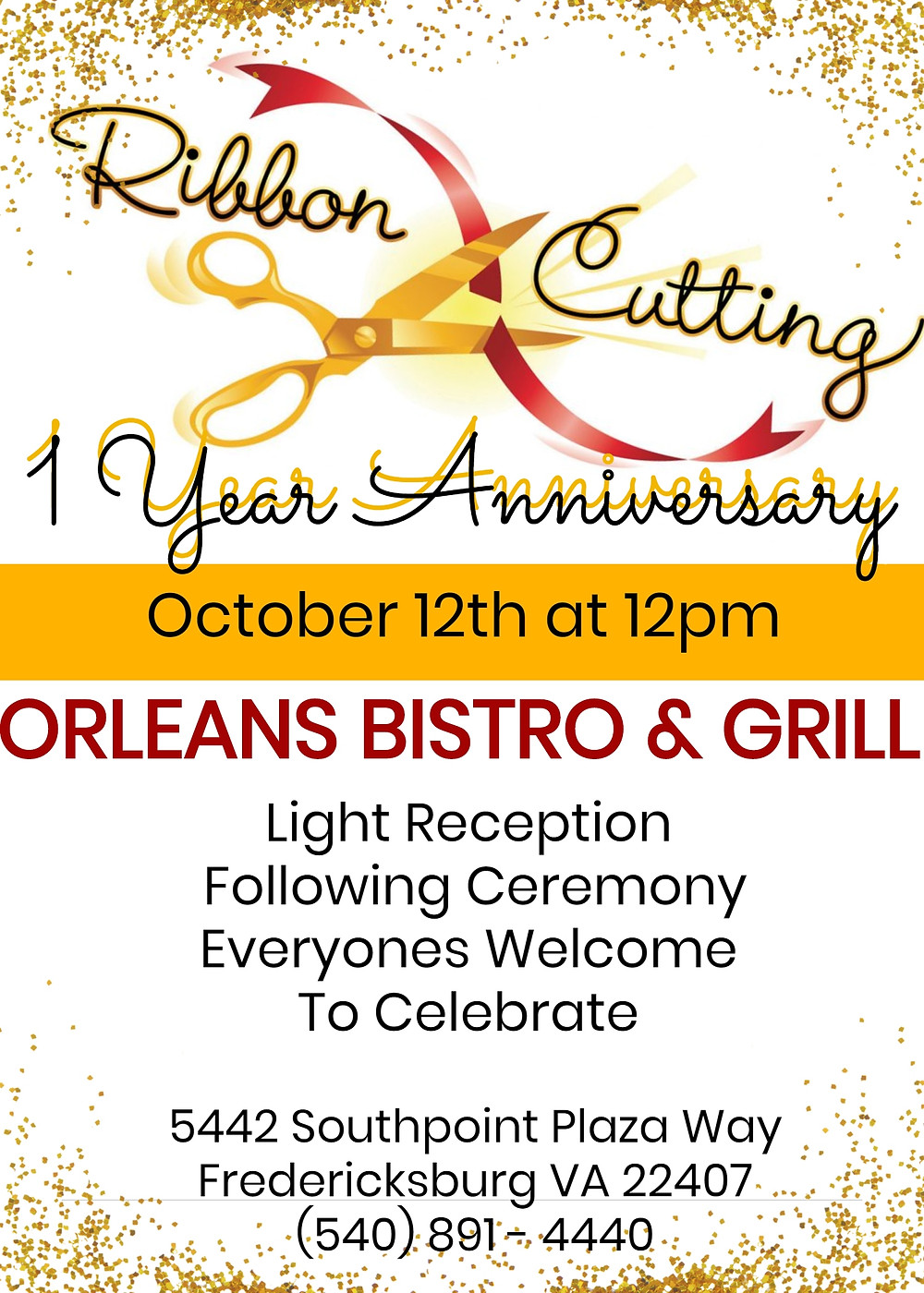 NEXT WEEK WE TURN ONE! COME OUT AND CELEBRATE!