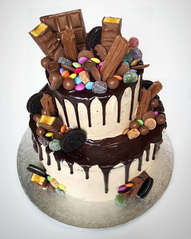 2 Tier Chocolate Drip