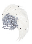 ivory an co, wedding tiara, feathers