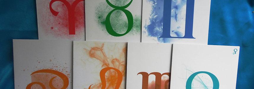 Sept cartes Astrologie & Poésie