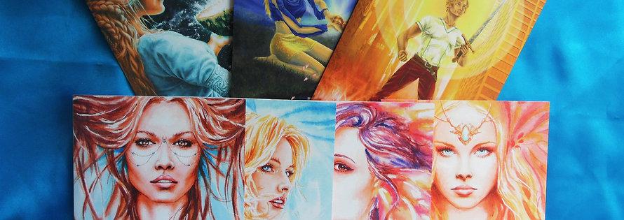 Les sept cartes  peinture & poésie