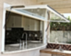 Flip Out Window opens to outdoor kitchen