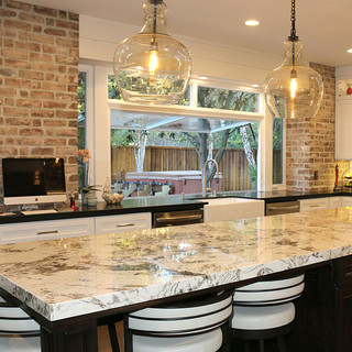Gorgeous kitchen remodel w/8' Flip Out Window w/fixed transom above