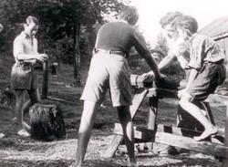 """Sommerlejr p""""Solviken"""" i Tollsö 1944"""