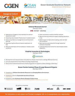Shape the Future of the Ocean: 23 PhD Positions Open with OFI's Ocean Graduate Excellence Network