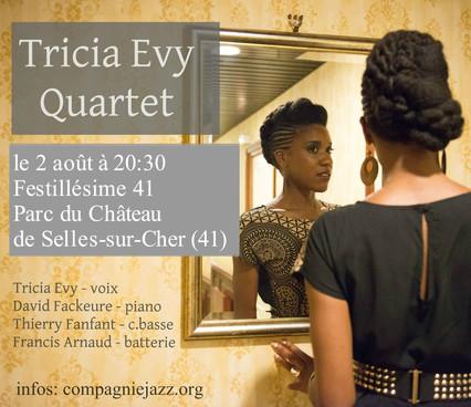 TRICIA EVY QUARTET @ FESTILLESIME 41,  SELLES-SUR-CHER,  FRANCE