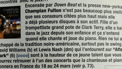 """AFTER DARK"" - 4 stars in Jazz Magazine"