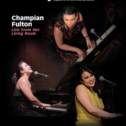 Champian on the cover of Jersey Jazz (July August 2020)