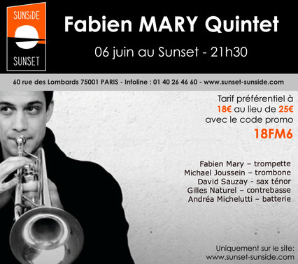 FABIEN MARY au SUNSIDE à PARIS