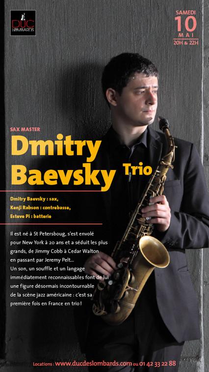DMITRY BAEVSKY @ DUC DES LOMBARDS IN PARIS