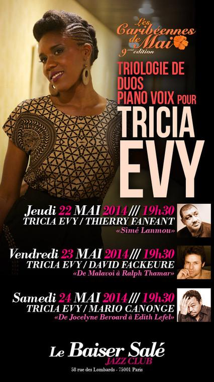 TRICIA EVY @ LES CARIBEENNES DE MAI, PARIS