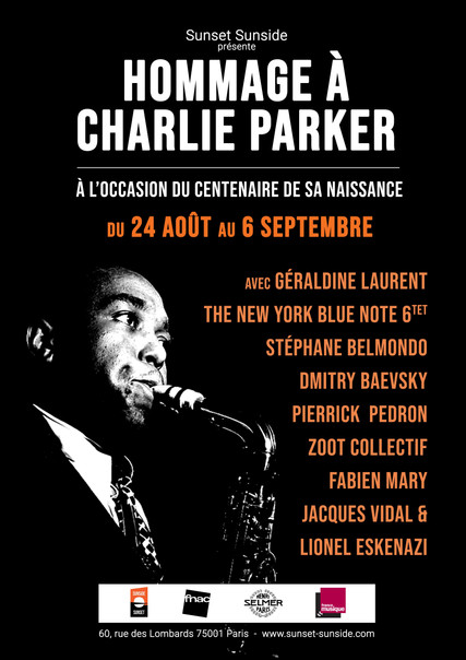 Celebrating Charlie Parker • Dmitry Baevsky at Sunside in Paris, August 26th and 27th