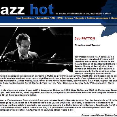 Jeb Patton interviewé dans JazzHot