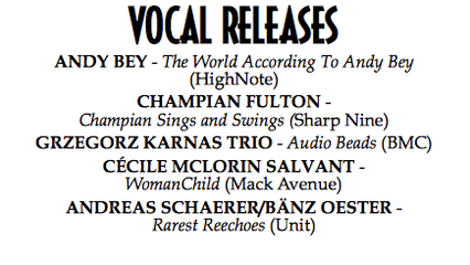 """""""CHAMPIAN SINGS AND SWINGS"""" NAMED AMONG THE 5 BEST VOCAL RELEASES 2013"""