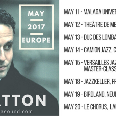 JEB PATTON - EUROPEAN TOUR MAY 2017
