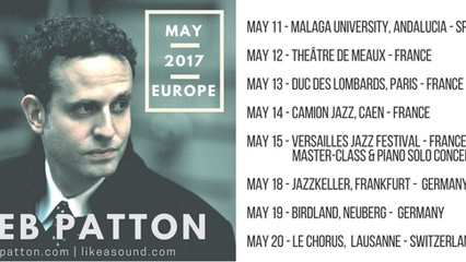 JEB PATTON - EUROPEAN TOUR MAY 2017