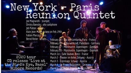 New York - Paris Reunion Quintet on tour !