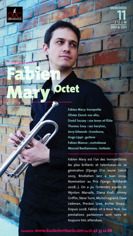 FABIEN MARY OCTET @ DUC DES LOMBARDS, PARIS