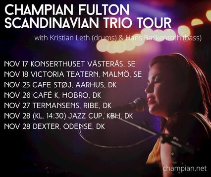 Champian Fulton in Sweden & Denmark - November 2020 !