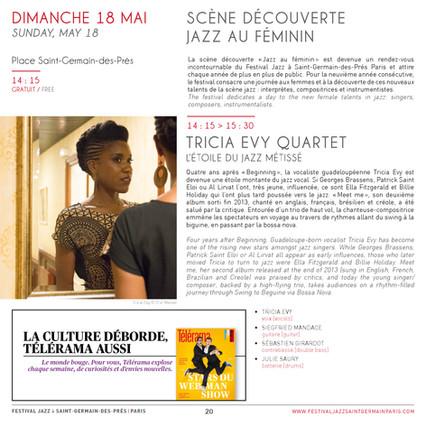 TRICIA EVY @ FESTIVAL ESPRIT JAZZ ST GERMAIN, PARIS