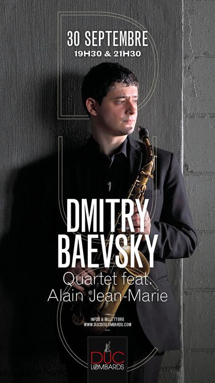 Dmitry Baevsky @ Duc des Lombards in Paris soon...