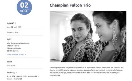 CHAMPIAN FULTON @ JAZZ A DOMERGUE, CANNES