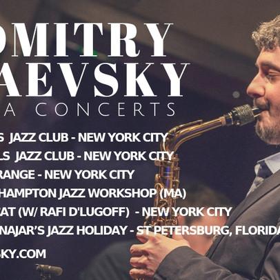 Dmitry Baevsky's upcoming concerts in USA