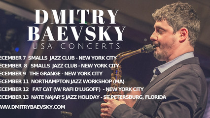 Dmitry Baevsky's upcoming concerts in USA