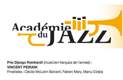 "FABIEN MARY FINALIST FOR THE ACADEMIE DU JAZZ PRIZE ""FRENCH MUSICIAN OF THE YEAR"""