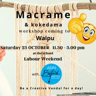 Waipu school macrame workshop